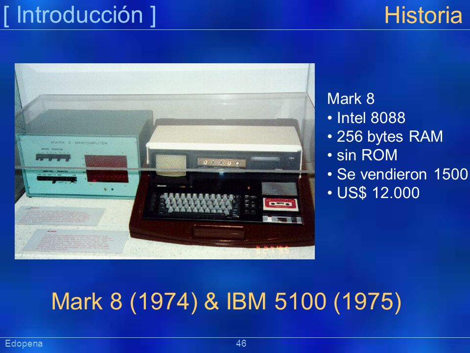 [ Introducción ] Historia Mark 8 (1974) & IBM 5100 (1975) Mark 8